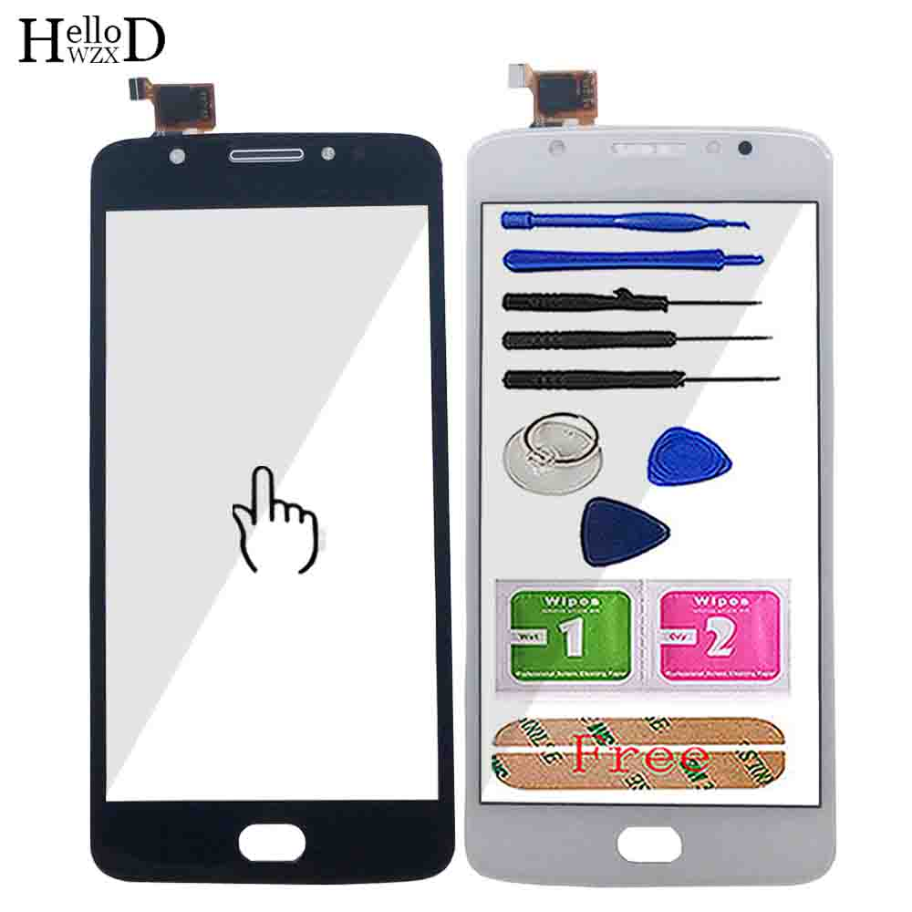 Touch Screen For Motorola Moto E4 XT1762 XT1763 XT1766 XT1767 Touch Screen Digitizer Panel Lens Sensor Front Glass Tools 3M Glue