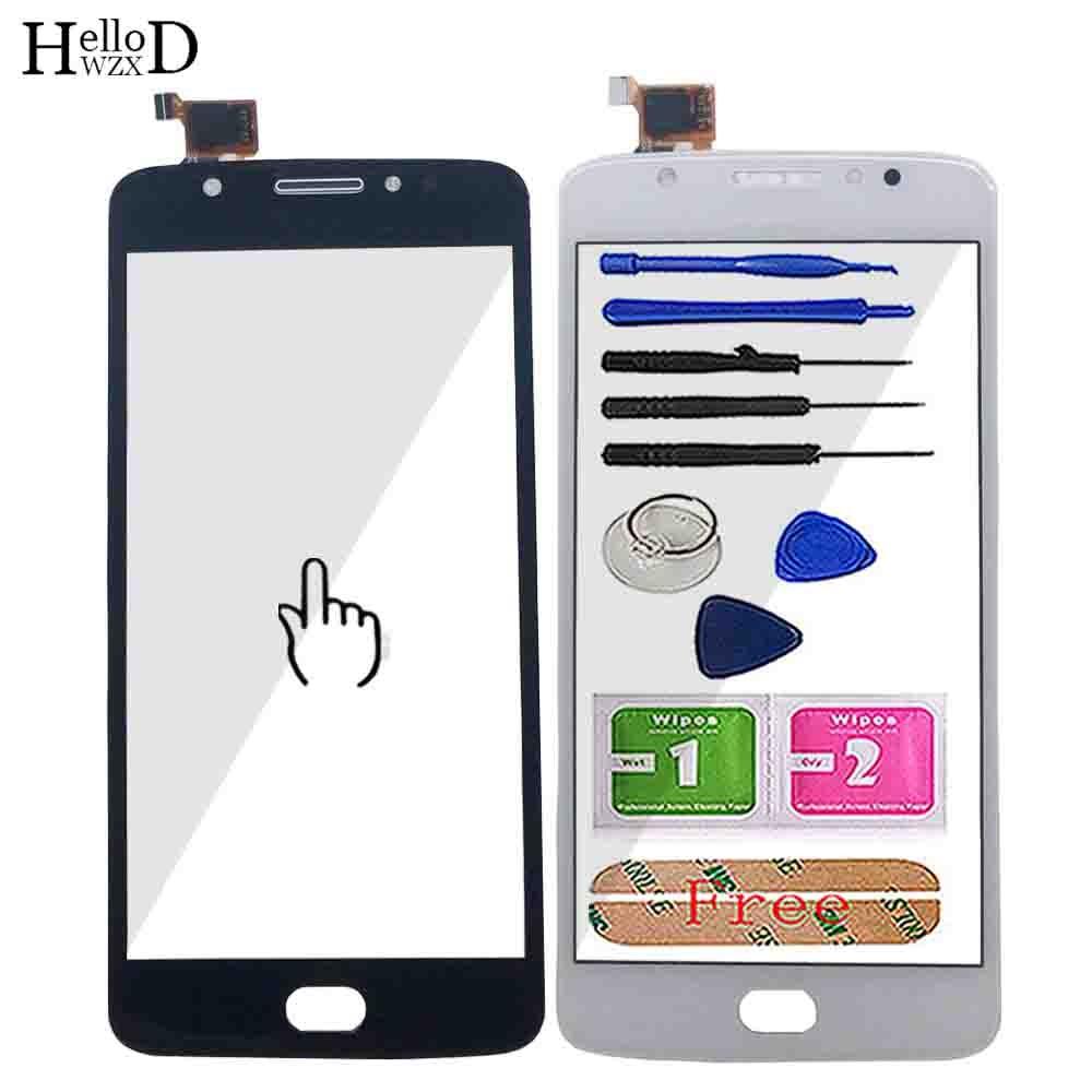 Touch Screen For Motorola Moto E4 XT1762 XT1763 XT1766 XT1767 Touch Screen Digitizer Panel Lens Sensor Front Glass Tools 3M Glue