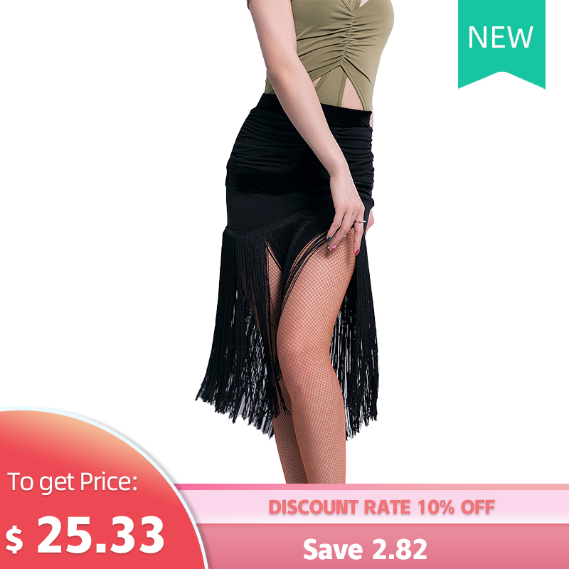 Latin Dance Skirt New Female Adult Tassel Sexy Skirt Performance Competition Clothes Profession Exercise Clothing