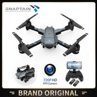 SNAPTAIN-Dron con cámara de Control de voz, cuadricóptero profesional RC 3D plegable, Dron inteligente, 720P, 1080P, HD