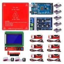 Reprap Ramps مجموعة 1.6 مع ميجا 2560 r3K، محول ميكانيكي، كابل طابعة 3D, 12864 تحكم بشاشة LCD، DRV8825
