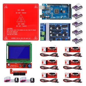 Image 1 - Reprap Ramps 1.6 Kit with Mega 2560 r3 + Heatbed MK2B + 12864 LCD Controller + DRV8825 +Mechanical Switch +Cables for 3D Printer