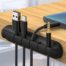 Unique Cable Organizer Silicone USB Cable Winder Desktop Tidy Management Clips Cable Holder for Mouse Headphone Wire Organizer