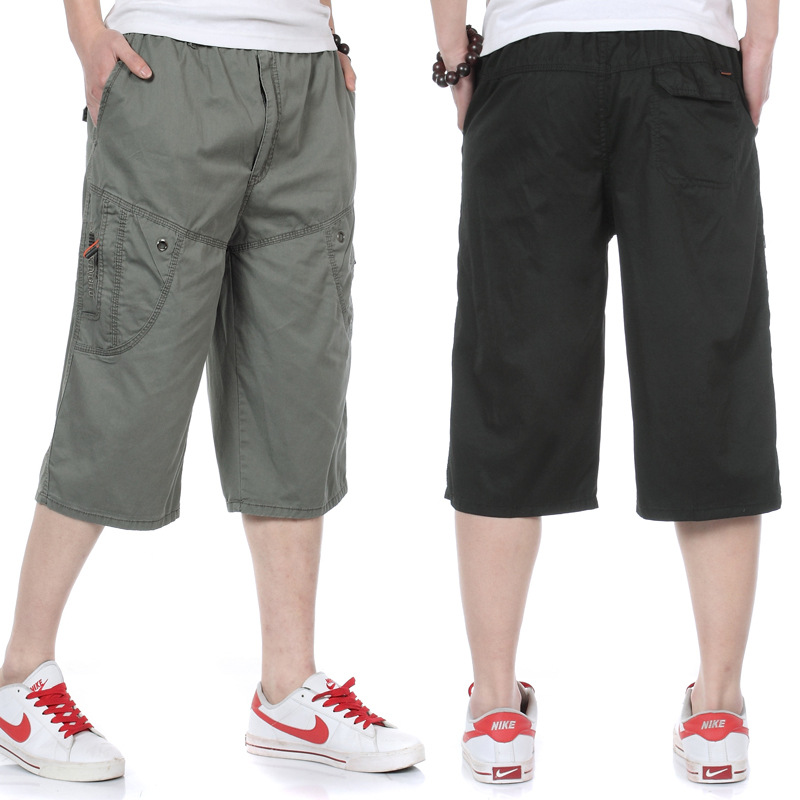 2019 Summer Men Casual Capri Pants Straight-Cut Loose-Fit Jin Yao With Cotton Middle-aged Beach Shorts