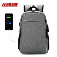 Anti-theft Laptop college backpack camping outdoor daypack back pack with USB charging port business school book bag waterproof