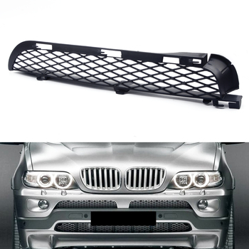 Black Right Front Grilles Upper Bumper Mesh Grill Trim fit for BMW X5 E53 2004 2005 2006 image