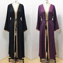 F864new muçulmano vestido abayas para mulher baju muçulmano wanita marroquino robe orientale musulman abaya robe dubai