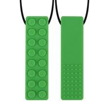 10 pçs tijolo vara mastigar colar bebê silicone mordedor sensorial brinquedos para crianças crianças mastigável acessórios necessidades especiais