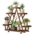 Антикоррозийная деревянная стойка для цветов напольная полка для цветов для помещений и улицы твердая древесина для гостиной  Балконная ст...