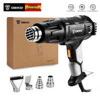 DEKO 220V Heat Gun 2000W Variable Temperature Advanced Electric Hot Air Gun with Four Nozzle Attachments Power Tool
