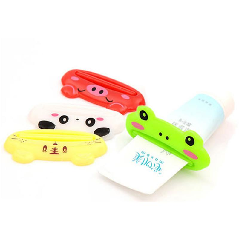 Bathroom Supplies Tube Squeezer Animal Facial Foam Tube Cream Tube Gel Toothpaste Squeezers Toothpaste Dispenser Rolling Holder