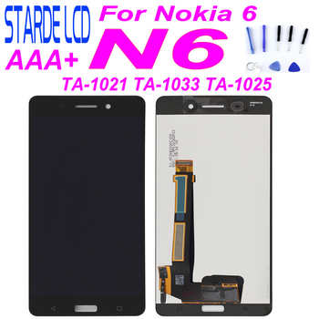 цена на STARDE Replacement LCD For Nokia 6 N6 LCD Display Touch Screen Digitizer for TA-1021 TA-1003 TA-1033 TA-1025 Assembly Black 5.5