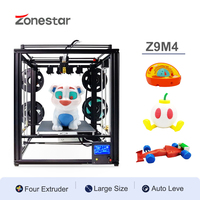 ZONESTAR Four Extruders Multi Color Large Size Frame 3D Printer DIY Kit 4 IN 1 OUT Auto Mixing Easy Level Overseas Warehouse