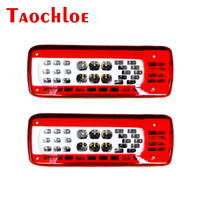 2Pcs 24V Taillights For Volvo FH 460 For FMX 500 Heavy Truck Rear Lamps Stop Turn Brake Warning Signal Tail lights