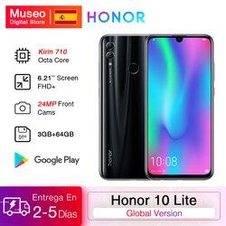 Глобальная версия Honor 10 Lite смартфон Kirin 710 Octa Core 6,21 дюйм2340X1080P 24MP фронтальная камера мобильный телефон Android OTA