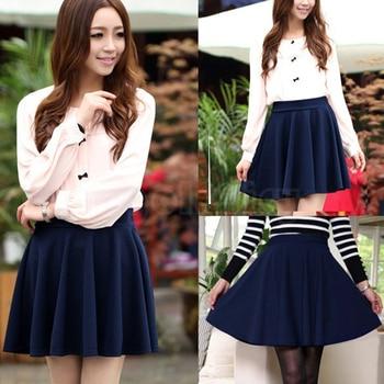 New New Women Skirt Sexy Mini Short Skirt Fall Skirts Womens Stretch High Waist Pleated Tutu Skirt SCI88 5