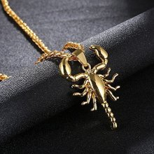 цены style ornaments punk scorpion pendant original restoring ancient ways men's titanium necklace long sweater chain steel