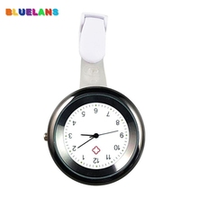 Fashion 4 Colors Round Numeral Analog Quartz Clip-On Nurse Medical Doctor Pocket Watch