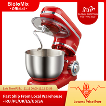 BioloMix Stand Mixer Stainless Steel Bowl 6 speed Kitchen Food Blender Cream Egg Whisk Cake Dough Kneader Bread Mixer Maker