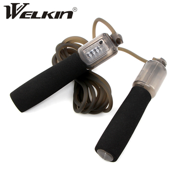 WELKIN Jump Ropes with Counter Sports Fitness Adjustable Fast Speed Counting Jump Skip Rope Skipping Wire Gym Fitness Equipment 1pc jump skipping ropes professional sponge skipping aerobics fitness adjustable speed counting skipping home fitness equipment