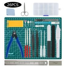 26 sztuk Model narzędzia budowlane Combo dla Gundam narzędzia wojskowe Hobby Model DIY akcesoria do szlifowania cięcia narzędzia do polerowania zestaw