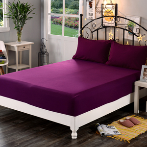 LAGMTA 1pc 100% Polyester Solid Mattress Cover Sheet Four Corners With Elastic Fitted Sheet pillowcase
