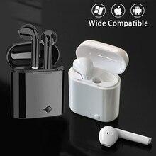 Kulaklık kablosuz bluetooth 5.0 kulaklık Mini mikrofonlu kulaklık şarj kutusu spor iphone için kulaklık xiaomi akıllı telefon