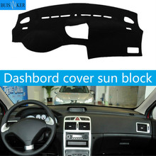 For Peugeot 307 Dashboard Cover Mat Pad Dashmat Dash Sun Shade Car Styling Instrument Carpet Accessories car dashboard mats cover void light pad instrument platform carpet cover mat protection for mini cooper r55 r56 accessories