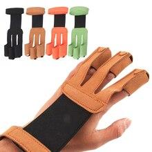 Стрельба из лука 3 пальца руки 4 цвета Стрельба Спортивные Защитные нарисованные лук рука защита стрелы стрельба перчатки