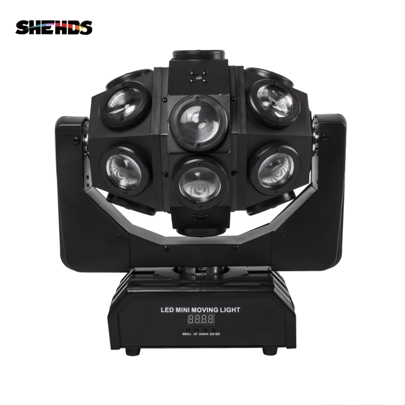 SHEHDS Led Moving Head Laser 18x12W DMX Infinite Rotation Football Roller Moving Heads Beam Light Disco DJ Party Flash Light