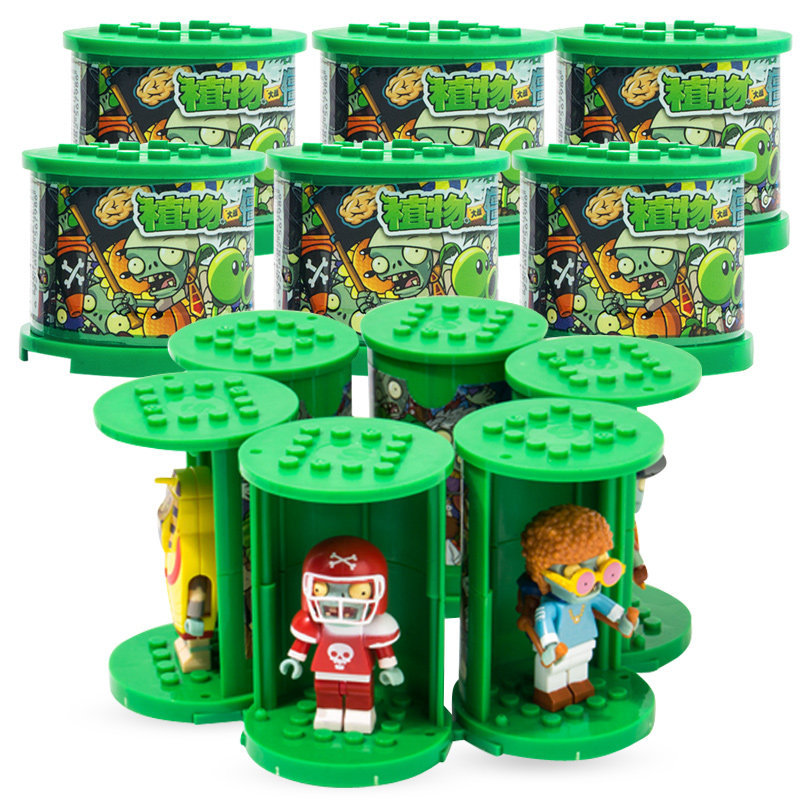 Plant War Zombie Toy New Products Zombie Legion Special Paragraph Ride Stack Series Building Blocks Blind Box Boy Gift - 2