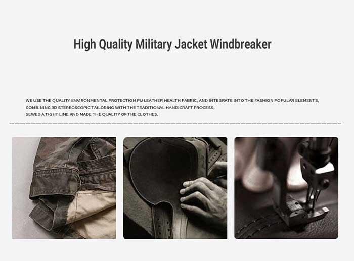 homens casual estilo militar com capuz jaqueta