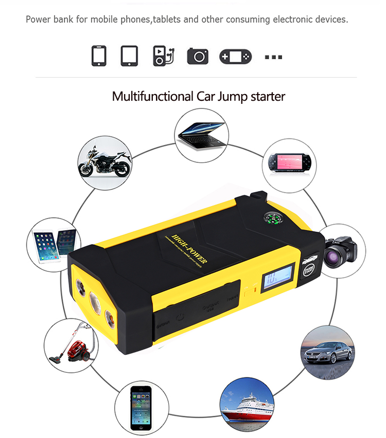 Waterproof 28000mAh Car Jump Starter Power Bank 1000A 12V Portable Starting Device Booster Car Charger for Car Battery Buster in Jump Starter from Automobiles Motorcycles