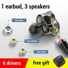 Supergraves auriculares HD con cable para móvil, audífonos estéreo deportivo con 6 controladores, para Honor 9x