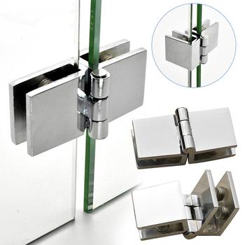 90 180 stopni dwustronne klip domu łatwa instalacja zacisk szklany cynku praktyczne trwałe zawiasy drzwi szafy meble łazienkowe szafka tanie i dobre opinie STAINLESS STEEL