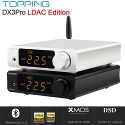 TOPPING DX3 PRO LDAC Edizione Bluetooth decodifica amp AK4493 DAC USB XMOS XU208 DSD512 soluzione difficile di uscita Per le Cuffie TPA6120A2