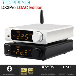 Image 1 - Topping DX3 Pro Ldac Editie Bluetooth Decodering Amp AK4493 Usb Dac Xmos XU208 DSD512 Harde Oplossing Hoofdtelefoon Uitgang TPA6120A2