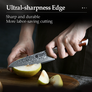 Image 5 - XINZUO 5 inch Utility Knives Japanese VG10 Damascus Steel Kitchen Knife Rosewood Handle Top Selling Fruit Cooking Knives