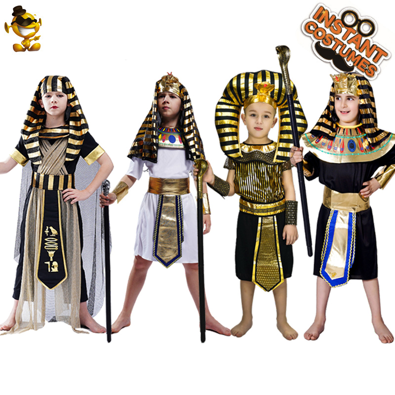 Purim Costume for Kids Egyptian Pharaoh Clothes Costumes Disgusie Halloween Boy's Egypt Priest Costumes for Children's Holidays