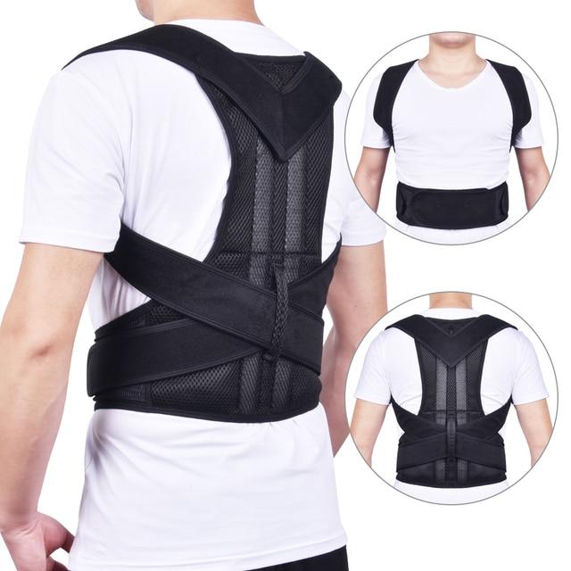 חזור יציבת מתקן כתף המותני סד עמוד השדרה מתכוונן למבוגרים מחוך תיקון היציבה גוף בריאות