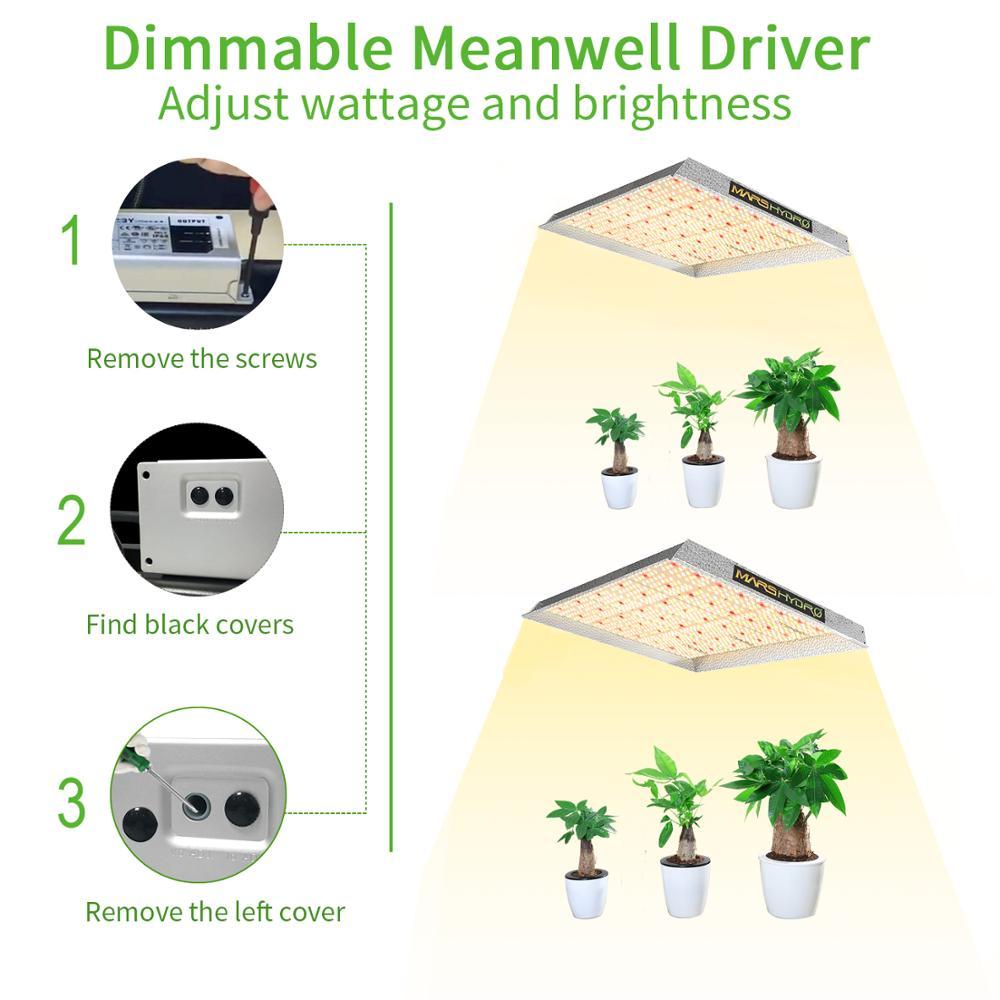 voll spektrum 1000W LED Grow Light Veg Blüte Indoor Hydroponics Pflanze Lampe