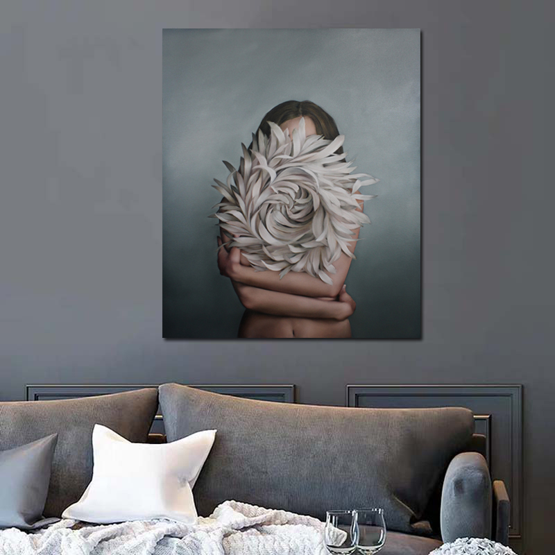 Flower Woman Abstract Canvas Posters Nordic Decorative Pictures Painting Modern Wall Art Canvas Painting Home Decor Art Prints