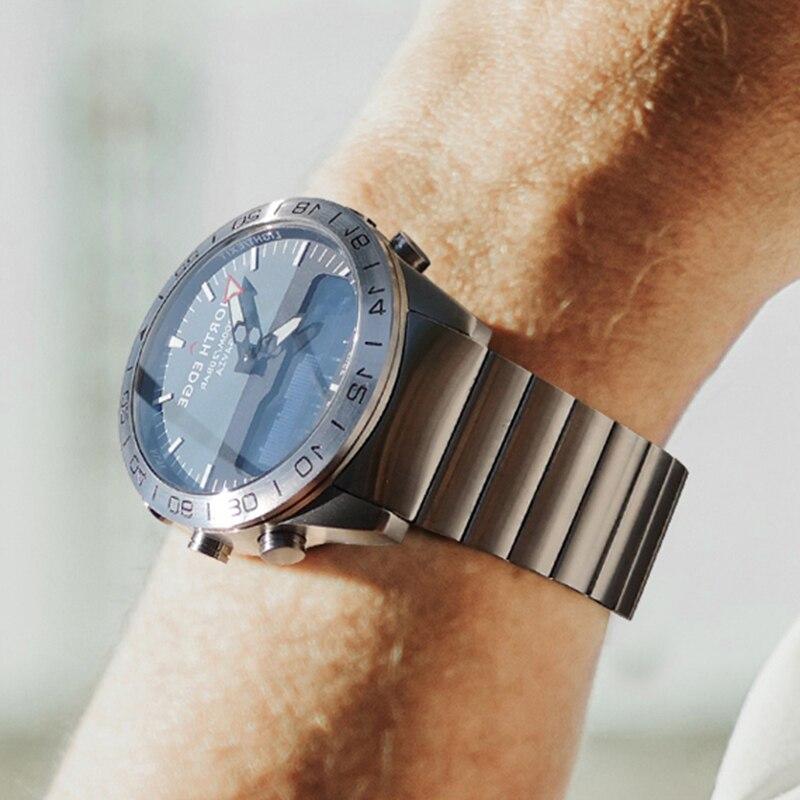 Aço inoxidável relógio de quartzo mergulho militar esporte relógios dos homens mergulho analógico relógio digital masculino do exército altímetro bússola borda norte - 6