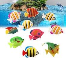 Poisson artificiel en plastique, 20 pièces, Simulation de petit poisson flottant, ornement d'aquarium de paysage vif, décoration (patte aléatoire)