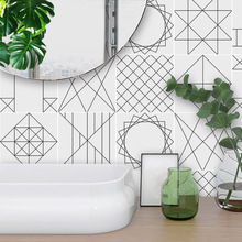 Funlife PVC Waterproof Tile Stickers,Adhesive Kitchen Wall Sticker,Modern Nordic Home Decor For Bathroom Living Room Sticker