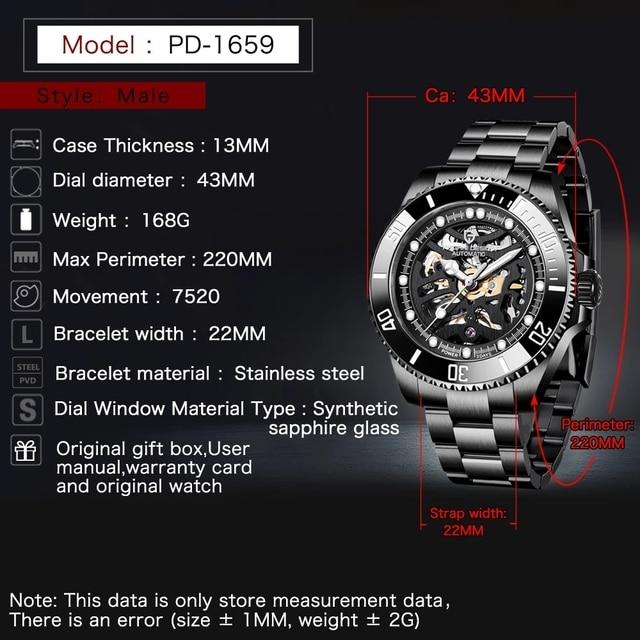 Фото часы pagani design мужские механические автоматические роскошные цена
