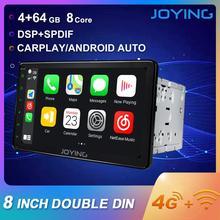 Joying 2 din rádio do carro android 8.1 octa núcleo 8 polegada 1024*600 suporte 4g de inicialização rápida dsp swc gps navegação universal carro rádio hd
