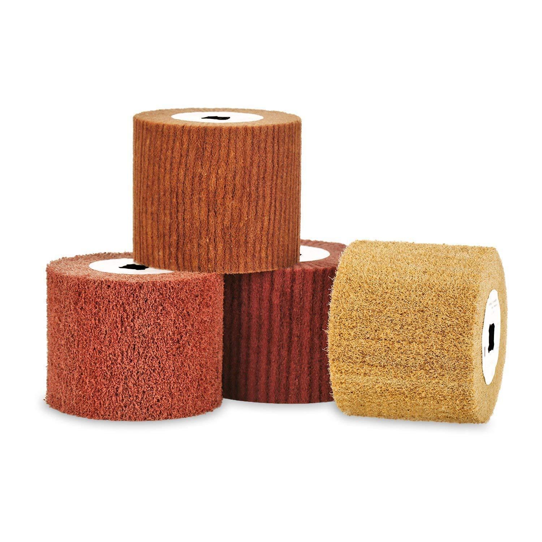 Durable Wool Felt Wire Drawing Wheel Burnishing Drum Mirror Polishing Brush Tool