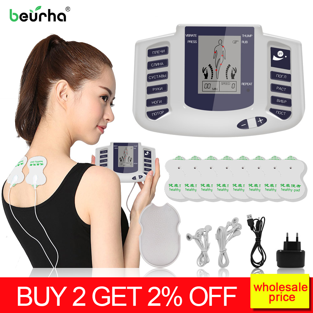 16/26/36pads Electrical Muscle Stimulator Full Body Relax Therapy Massager Pulse tens Acupuncture Slimming Machine Back Massage