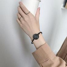 2020 модные женские часы с маленьким циферблатом простые ремешком